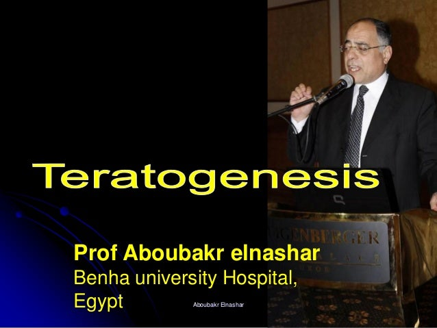 Prof Aboubakr elnashar Benha university Hospital, Egypt Aboubakr Elnashar