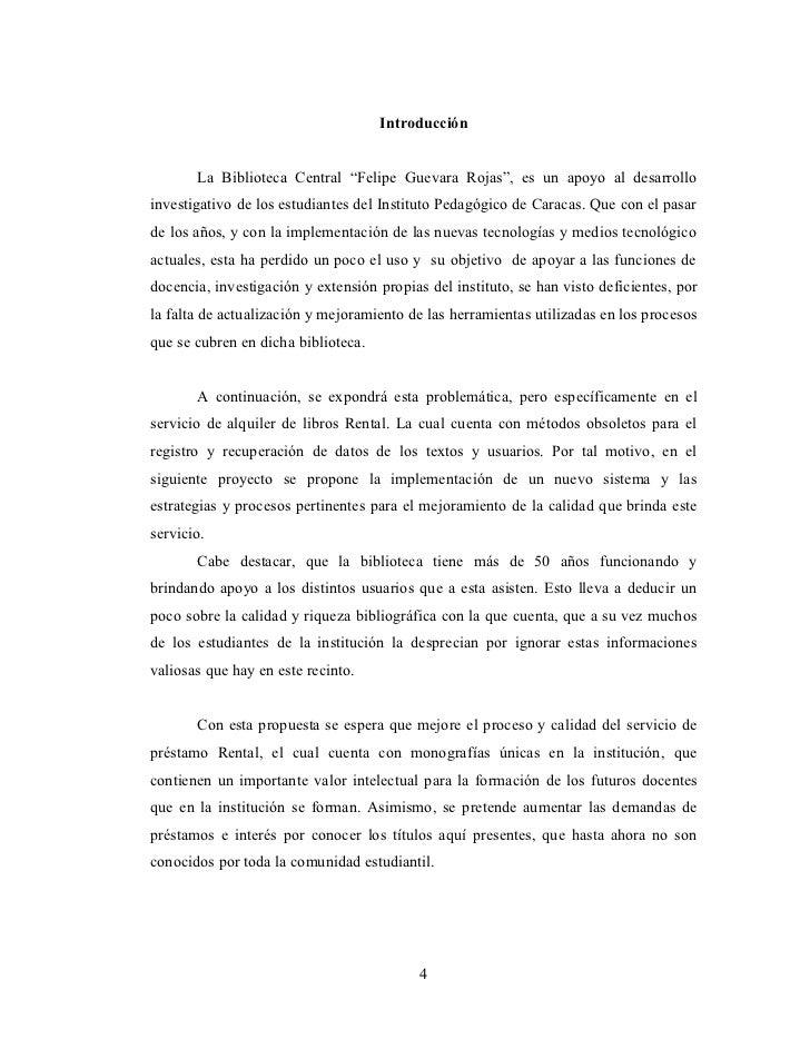"""Introducción       La Biblioteca Central """"Felipe Guevara Rojas"""", es un apoyo al desarrolloinvestigativo de los estudiantes..."""