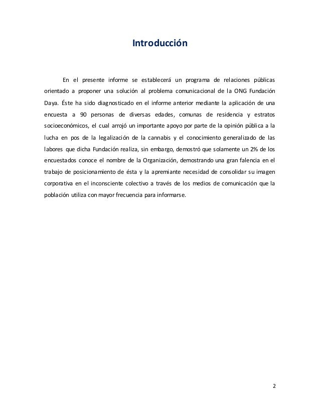 Informe: Programa RRPP para Fundación Daya Slide 3