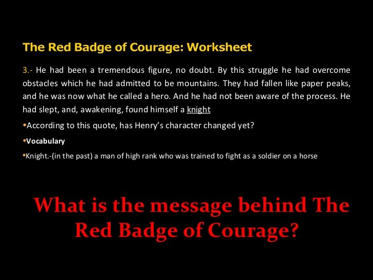 an analysis of henry in the red badge of courage by stephen crane The red badge of courage and other stories  of courage, written in 1895 by stephen crane  event of the red badge of courage henry's behavior.