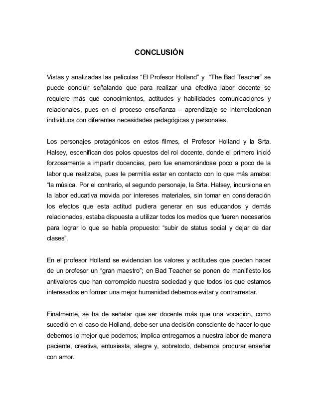 Cine Forum De Las Peliculas Profesor Holand Y Tha Bad Teacher