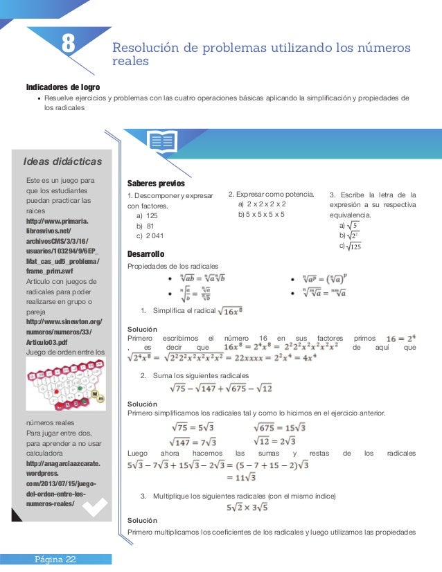 Tercer ciclo matematica