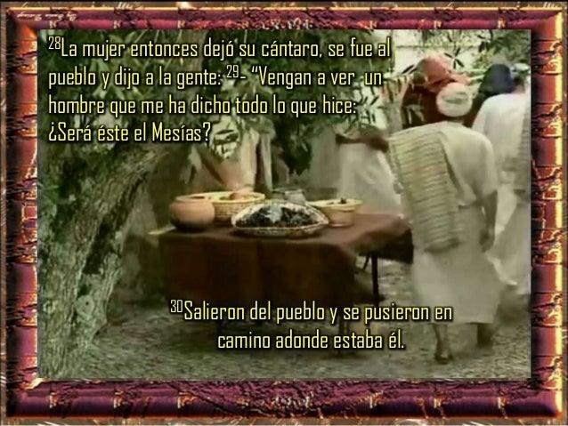 """31 Mientras tanto sus discípulos le insistían: - """"Maestro, come"""". 32Él les dijo: -""""Yo tengo por comida un alimento que ust..."""