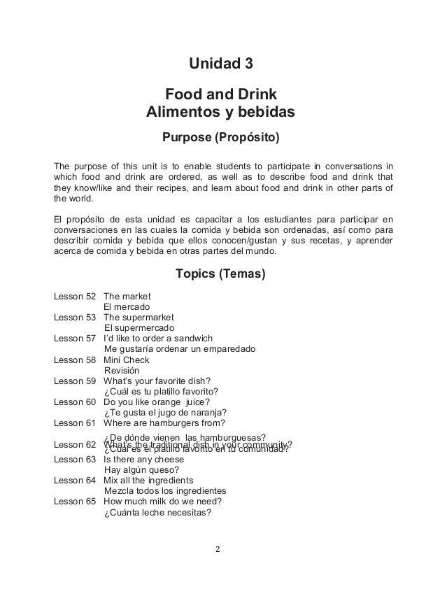 Recetas de comida en ingles con traduccion