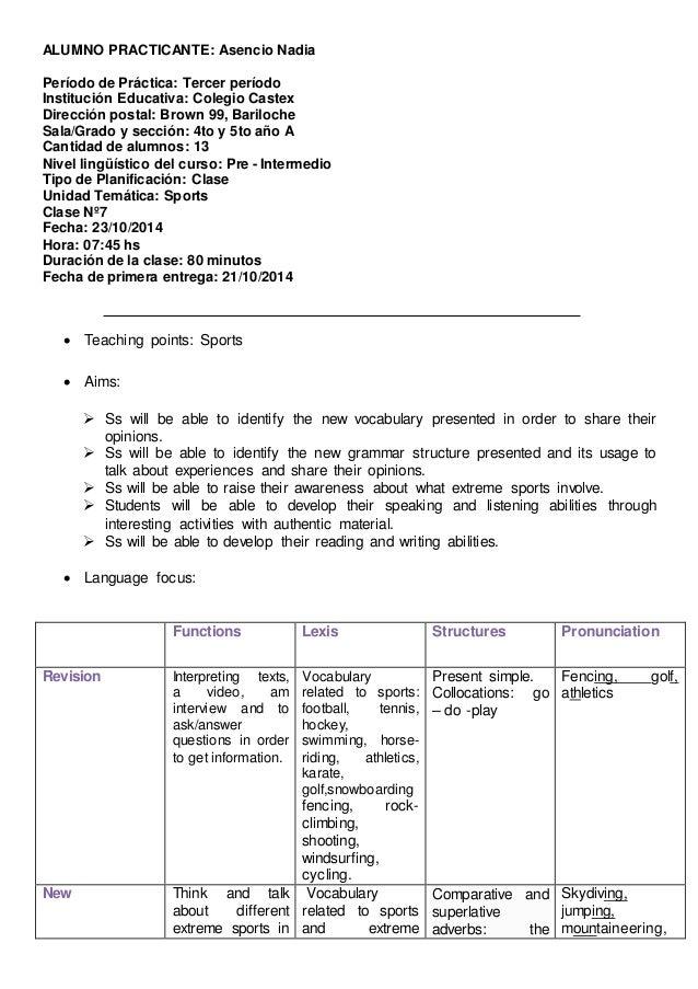 ALUMNO PRACTICANTE: Asencio Nadia Período de Práctica: Tercer período Institución Educativa: Colegio Castex Dirección post...