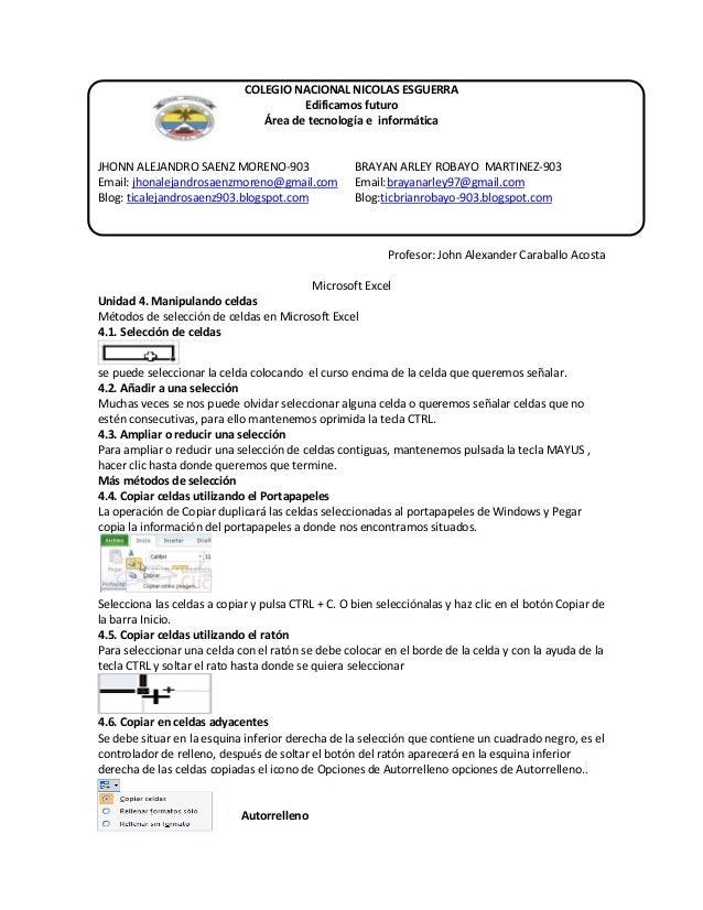 COLEGIO NACIONAL NICOLAS ESGUERRA Edificamos futuro Área de tecnología e informática  JHONN ALEJANDRO SAENZ MORENO-903 Ema...