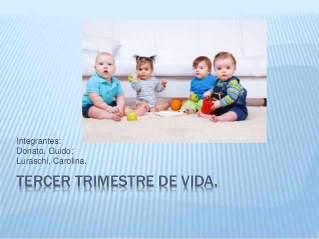 TERCER TRIMESTRE DE VIDA. Integrantes: Donato, Guido; Luraschi, Carolina.