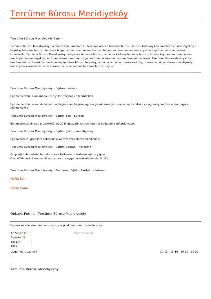 Tercüme Bürosu MecidiyeköyTercüme Bürosu Mecidiyeköy TanımıTercüme Bürosu Mecidiyeköy : almanca tercüme bürosu, tercüme ar...