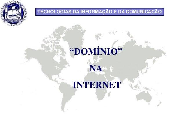 """COACHING II - Manuela Rodrigues""""DOMÍNIO""""NAINTERNETTECNOLOGIAS DA INFORMAÇÃO E DA COMUNICAÇÃO"""