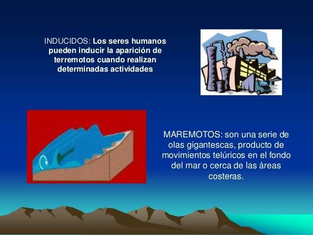 INDUCIDOS: Los seres humanos pueden inducir la aparición de terremotos cuando realizan determinadas actividades MAREMOTOS:...