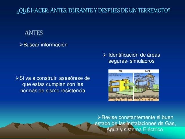 Buscar información  Identificación de áreas seguras- simulacros Si va a construir asesórese de que estas cumplan con la...