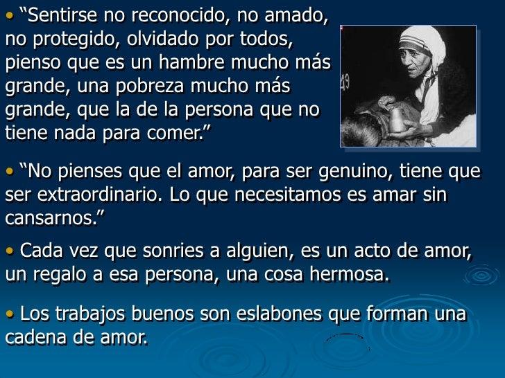 Mensaje De La Madre Teresa De Calcuta
