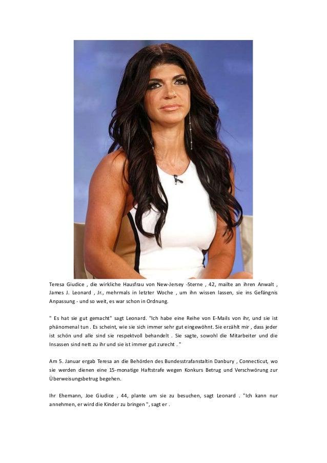 Teresa Giudice , die wirkliche Hausfrau von New-Jersey -Sterne , 42, mailte an ihren Anwalt , James J. Leonard , Jr., mehr...