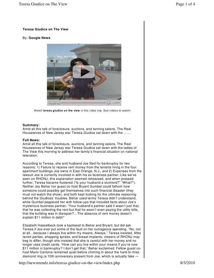 Teresa Giudice on The View                                                            Page 1 of 4       Teresa Giudice on ...