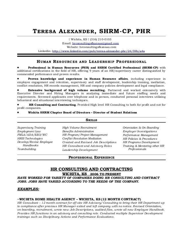 Teresa Alexander Shrm Cp Phr