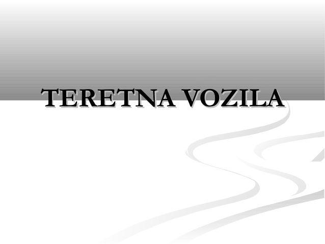 TERETNA VOZILA