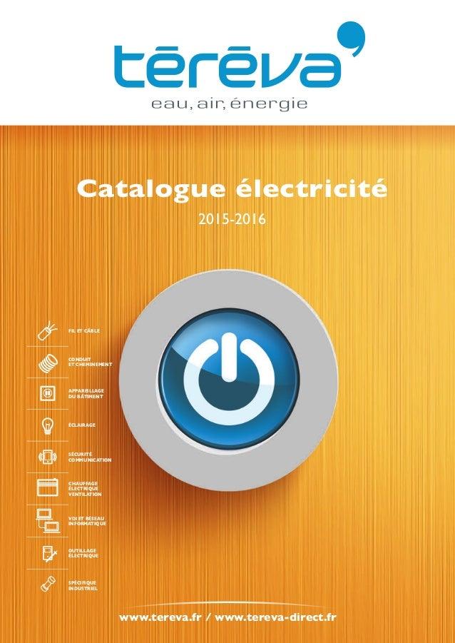 Notre Catalogue 2015 Electricite