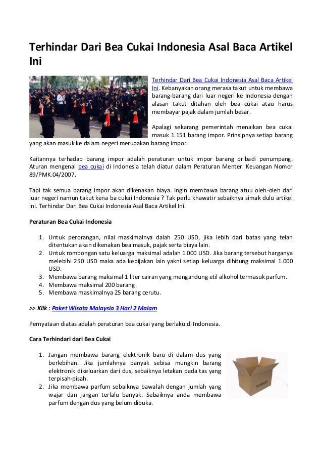 terhindar dari bea cukai indonesia asal baca artikel ini rh slideshare net