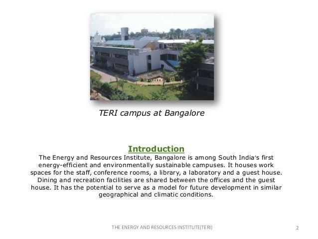 Teri, bangalore & solar passive techniques(rupesh) Slide 2
