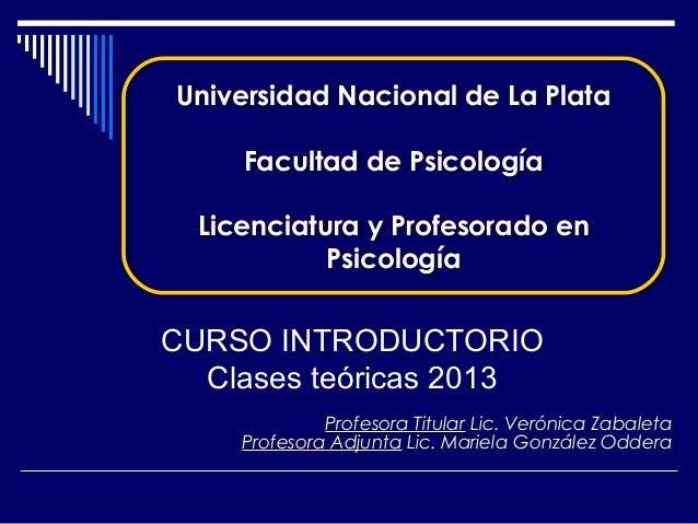 Universidad Nacional de La PlataUniversidad Nacional de La Plata     Facultad de Psicología     Facultad de Psicología  Li...