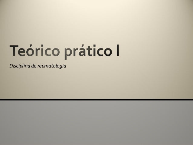 Disciplina de reumatologia