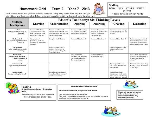 year 2 maths homework