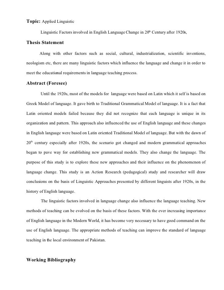 Linguistics case essay