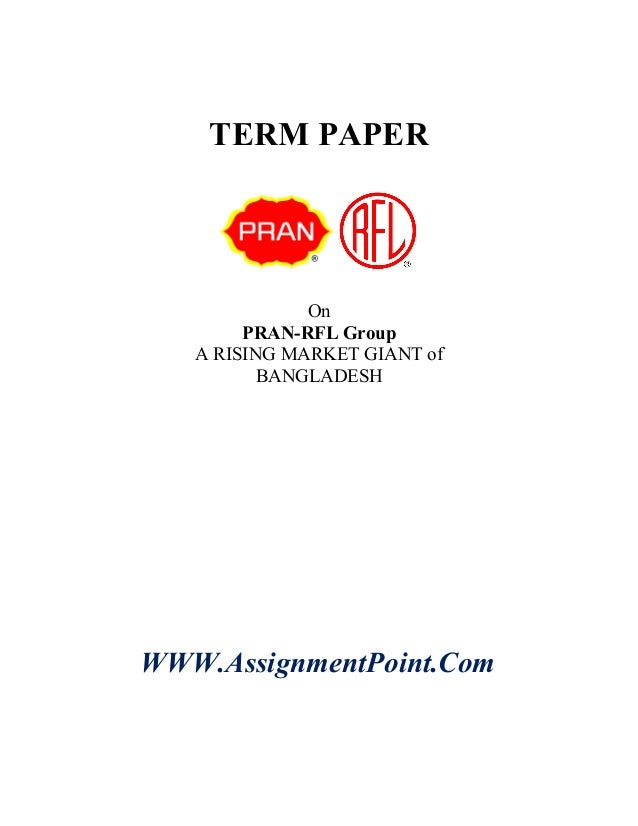 term paper on pran rfl group