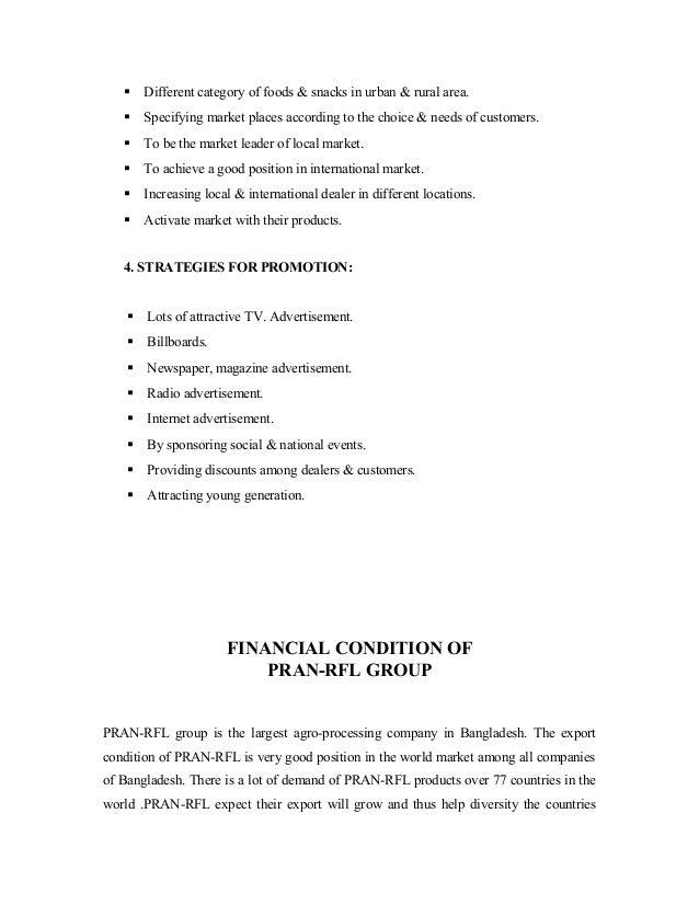 term paper on pran rfl