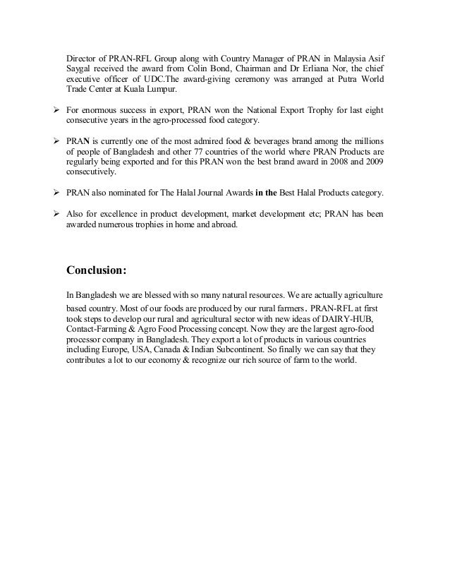 pran rfl group term paper