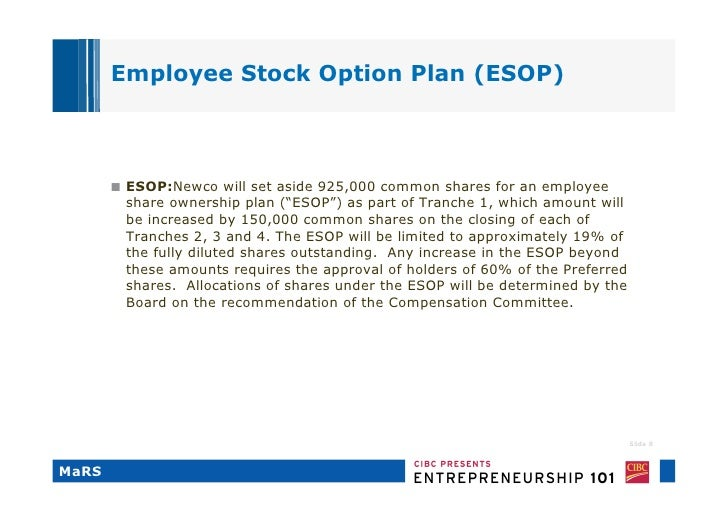 BREAKING DOWN 'Employee Stock Ownership Plan - ESOP'