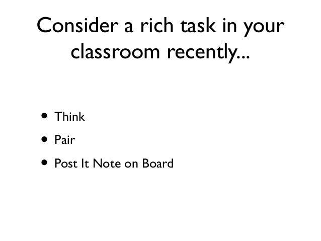 Term 2 2013 rich tasks etc