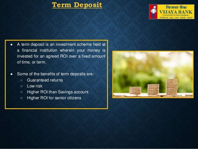 fixed deposit schemes in vijaya bank
