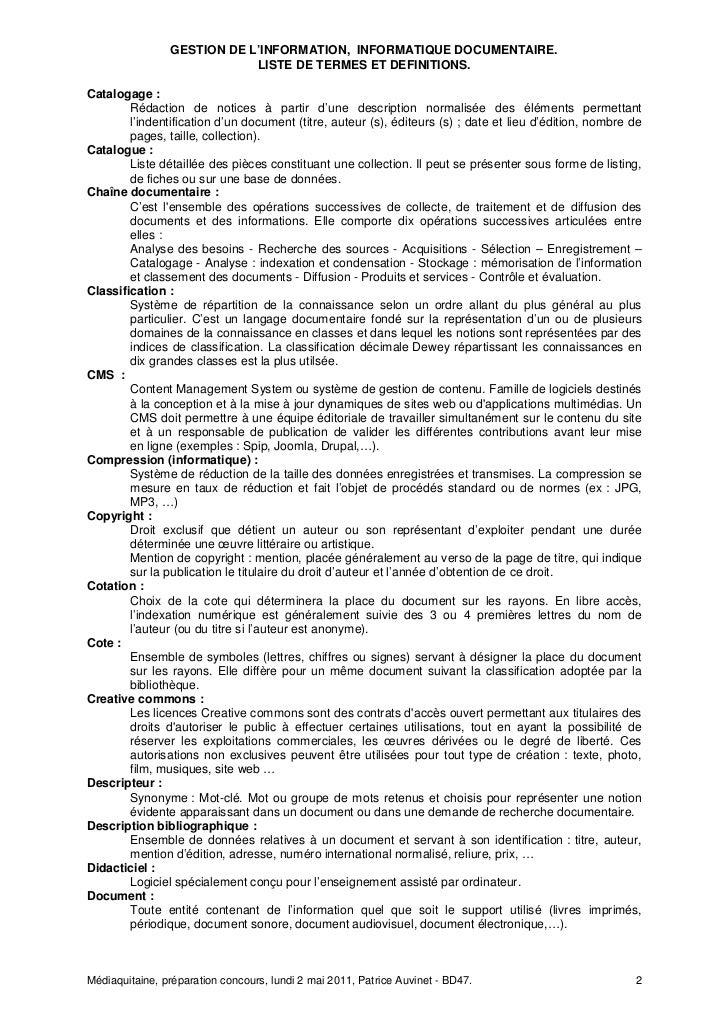 020511 Mediaquitaine Termes et  definitions Slide 2