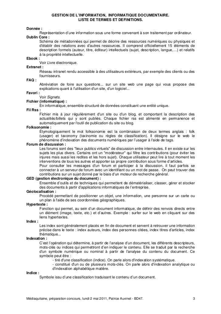 020511 Mediaquitaine Termes et  definitions Slide 3