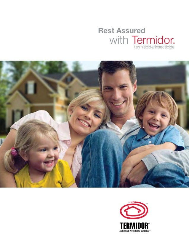 Rest Assured  with Termidor. termiticide/insecticide