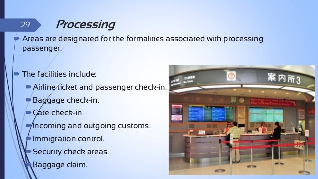 30  Holding Areas   The areas where passengers wait, in some case with airport visitors, between period occupied by passi...