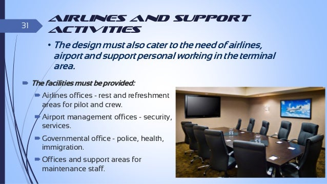 32  Services Required at Terminal Building  Check-in  Immigration Duties  Security Checks Passenger Screening Baggage...