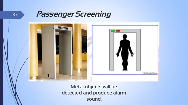 38  Baggage Screening The X-ray machine: Place all carry-on baggage and any items you are carrying with you on the belt o...