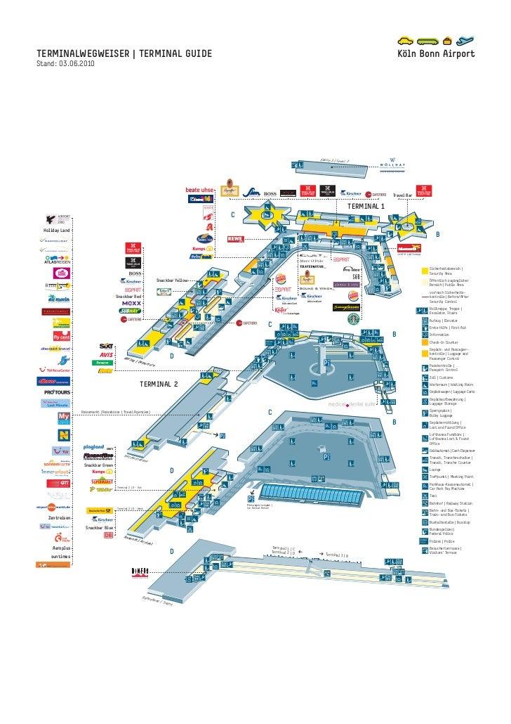 Koeln Bonn Airport Terminalplan