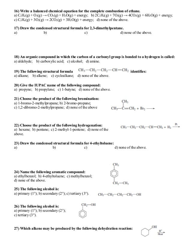 What equation shows the incomplete combustion of methane?