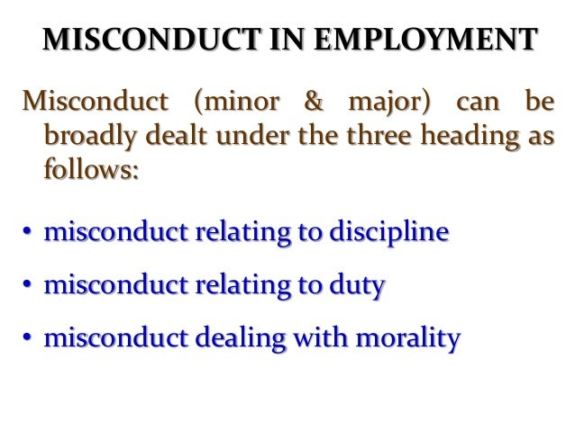 INVESTIGATING MISCONDUCT   Fact-finding    To find out if an offence has been committed & whether or not accused has a c...