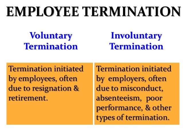 EMPLOYMENT TERMINATION • One of the difficult task managerial task. • Results from poor selection & ineffective people man...