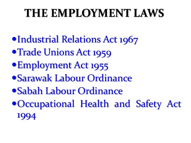 employment laws health and safety and labor relations Posters requested of the missouri department of labor and industrial relations labor organization, employment job safety and health: it's the law.