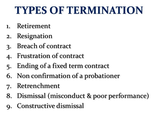 INDUSTRIAL COURT STATISTICS (AWARDS OF TERMINATION CASES) TYPES OF TERMINATION  2005 2006 2007 2008 2009  2010  2011  2012...
