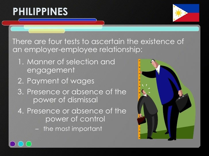 test of employer employee relationship philippines embassy