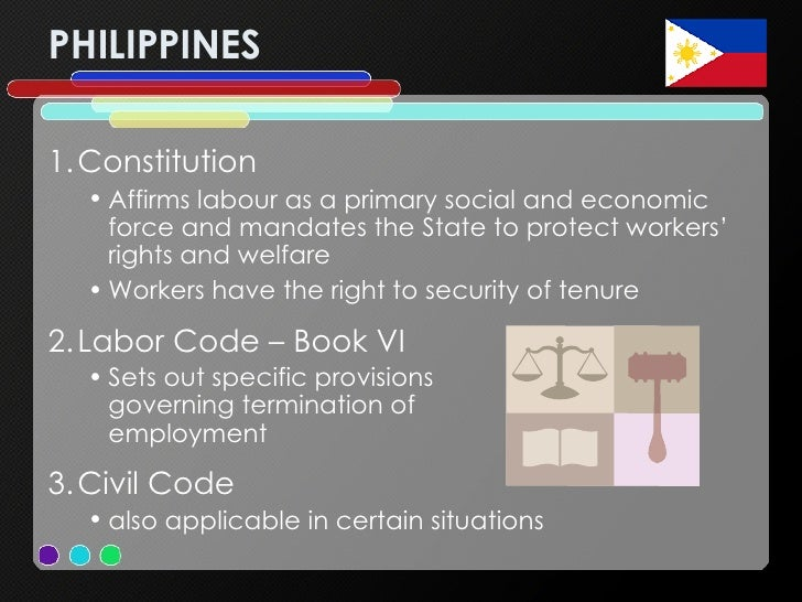 PHILIPPINES <ul><li>Constitution </li></ul><ul><ul><li>Affirms labour as a primary social and economic force and mandates ...