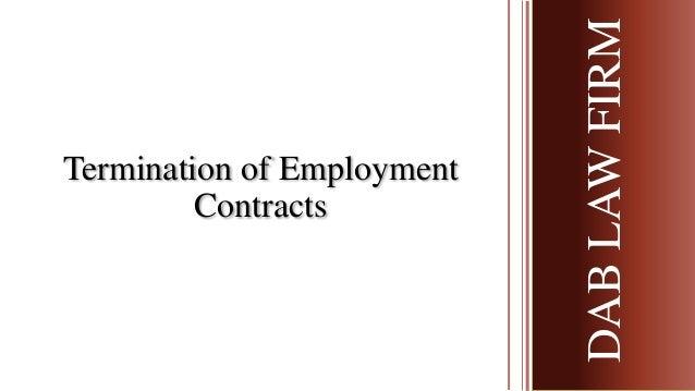 Termination of Employment Contracts DABLAWFIRMDABLAWFIRM