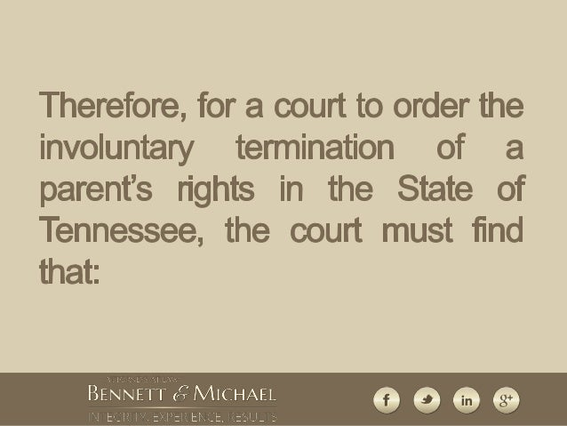 What is contained in a document for termination of parental rights?