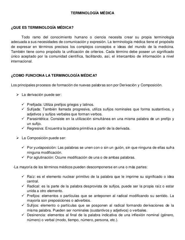 Terminología médica clinicas